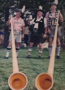 Alpenhorn Players with the Burgermeister